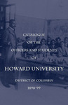 1898-99: Catalog of the Officers and Students of Howard University