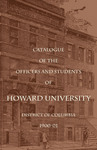 1900-01: Catalog of the Officers and Students of Howard University