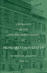 1901-02: Catalog of the Officers and Students of Howard University