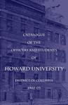 1902-03: Catalog of the Officers and Students of Howard University