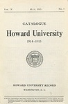 1914-15: Catalog of the Officers and Students of Howard University