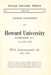1926-27: Catalog of the Officers and Students of Howard University