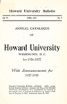 1927-28: Catalog of the Officers and Students of Howard University