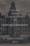 1870-71: Catalog of the Officers and Students of Howard University