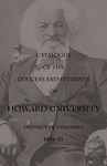 1884-85: Catalog of the Officers and Students of Howard University
