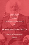 1889-90: Catalog of the Officers and Students of Howard University