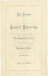 1870 - Howard University Third Anniversary Commencement