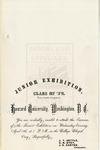 1872 - Howard University Junior Exhibition of the College Department
