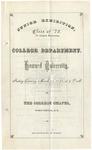 1873 - Howard University Junior Exhibition of the College Department