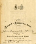 1873 - Howard University Collegiate Department Commencement