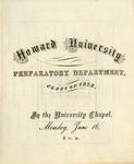 1873 - Howard University Preparatory Department Commencement