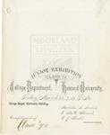 1874 - Howard University College Department Junior Exhibition