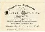 1879 - Howard University Preparatory Department Commencement