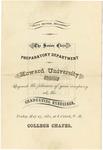 1881 - Howard University Preparatory Department Commencement