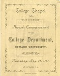 1885 - Howard University Collegiate Department Commencement