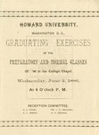 1886 - Howard University Preparatory and Normal Departments Commencement