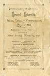 1890 - Howard University Medical. Dental. And Pharmaceutical Commencement