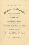 1894 - Howard University Normal Department Commencement
