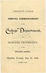 1894 - Howard University College Department Commencement