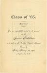 1894 - Howard University College Department Junior Class Exhibition