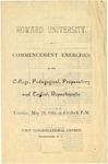 1901 - Howard University Commencement Program - College, Pedagogical, Preparatory, and English Departments