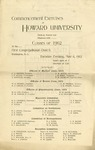 1902 - Howard University Medical. Dental and Pharmaceutical Departments Commencements