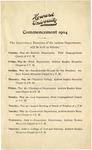 1904 - Howard University 1904 Commencement Exercises Calendar