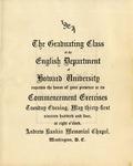 1904 - Howard University English Department Commencement