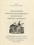 1905 - Howard University English and Commercial Departments Commencement Programs