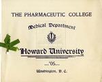1905 - Howard University Pharmaceutic College Commencement Program