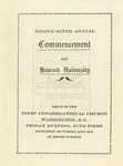 1906 - Howard University Annual Commencement