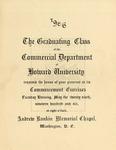 1906 - Howard University Commercial Department Commencement