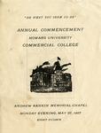 1907 - Howard University Commercial College Commencement