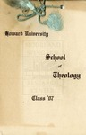 1907 - Howard University School of Theology Commencement