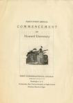 1908 - Howard University Commencement