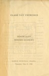 1908 - Howard University Class Day Exercises: Academy Senior Class Commencement