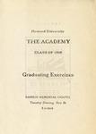 1908 - Howard University Academy Commencement Program