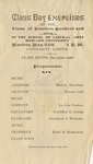 1909 - Howard University School of Liberal Arts Class Day Exercises