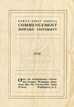 1910 - Howard University Commencement (and related ephemera)