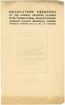 1910 - Howard University Normal Training Classes - Teachers College Commencement