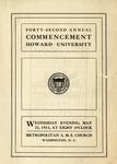 1911 - Howard University Commencement Program