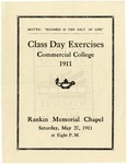 1911 - Howard University Class Day Exercises - Commercial College Commencement Program