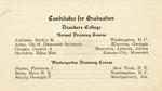 1911 - Howard University Teachers College Commencement Program (Candidates for Graduation)