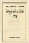 1911 - Howard University School of Theology Commencement Program