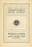 1912 - Howard University Commencement Program