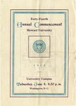 1913 - Howard University Commencement Program