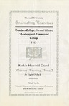 1913 - Howard University Normal Training Courses: Teachers College, Academy and Commercial College Commencement Programs