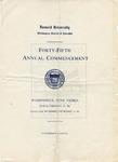 1914 - Howard University Commencement Program