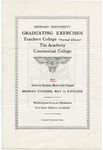 1914 - Howard University Normal Training Courses: Teachers College, Academy and Commercial College Commencement Programs