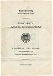 1915 - Howard University Commencement Program